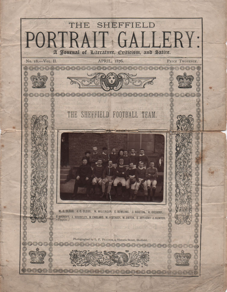 Sheffield Portrait Gallery April 1876